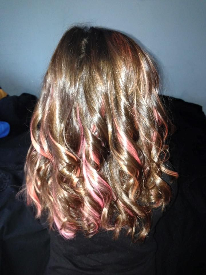 best 25 colorful highlights in brown hair ideas on