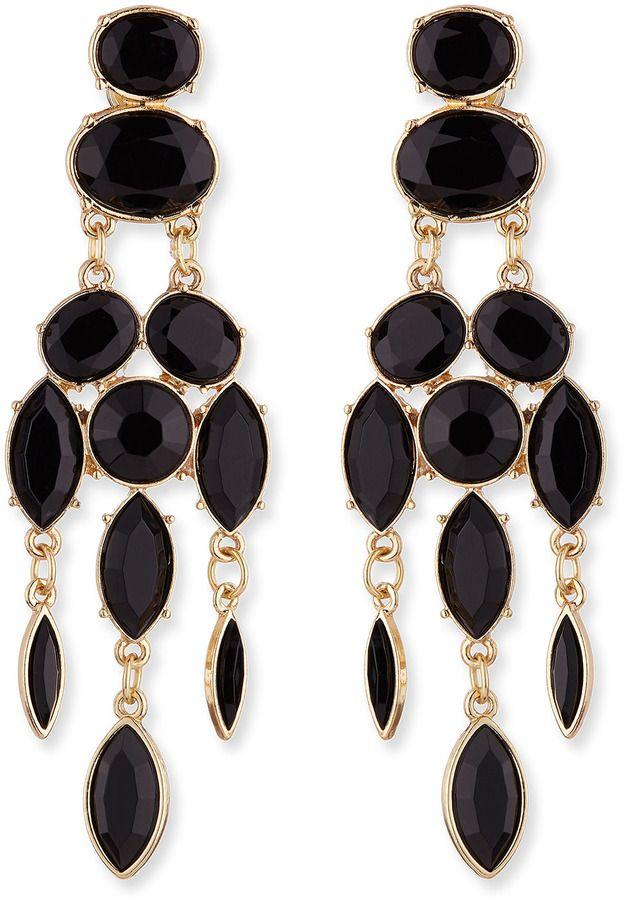 Jules Smith Designs Black Drop Chandelier Earrings on shopstyle.com