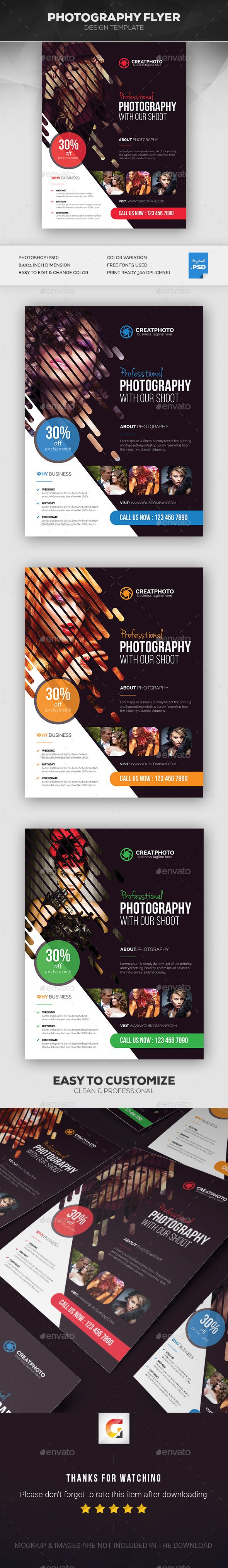 Photography Flyer Template PSD