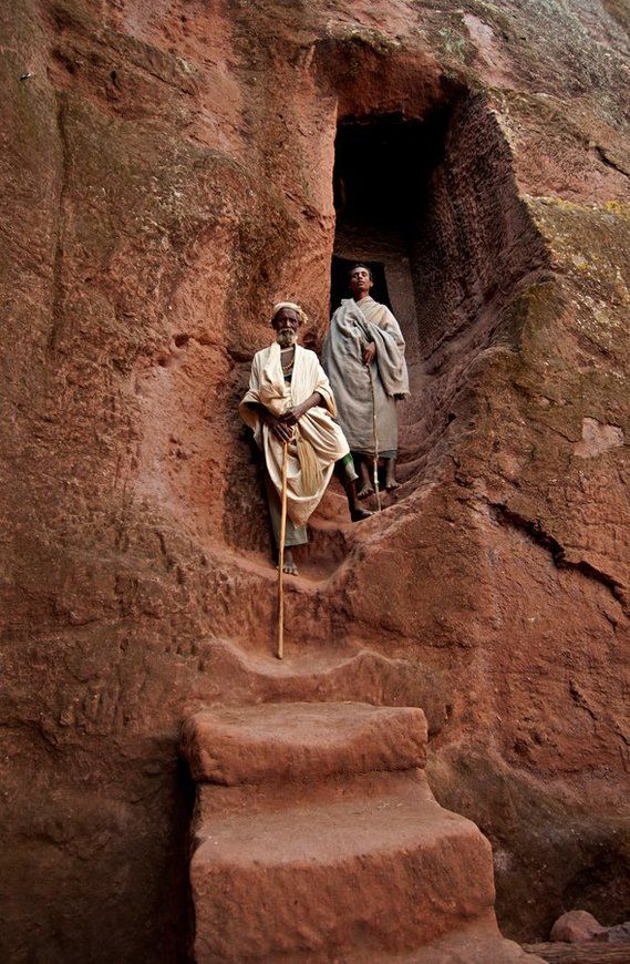 Entrance to the rock hewn church in Lalibela, Ethiopia