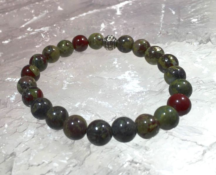 Bloodstone Power Bracelet for Decision Making-8mm   New Earth Gifts