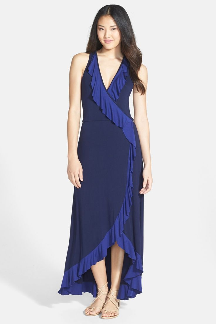 FELICITY & COCO Ruffled Faux Wrap Maxi Dress by Felicity and Coco on @nordstrom_rack