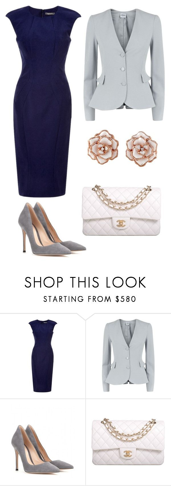 """Untitled #13"" by claireyim ❤ liked on Polyvore featuring mode, Armani Collezioni, Gianvito Rossi en Chanel"