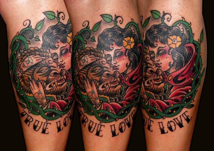 13depicas.com tatuaje old school bella bestia