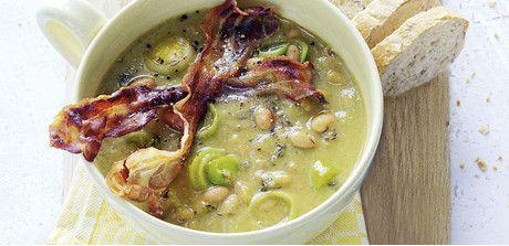 White Bean-leek soup with bacon strips - Giant Food
