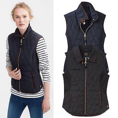 Joules Braemar Quilted Gilet – Ladies Outdoor Winter BodyWarmer Waistcoat Jacket