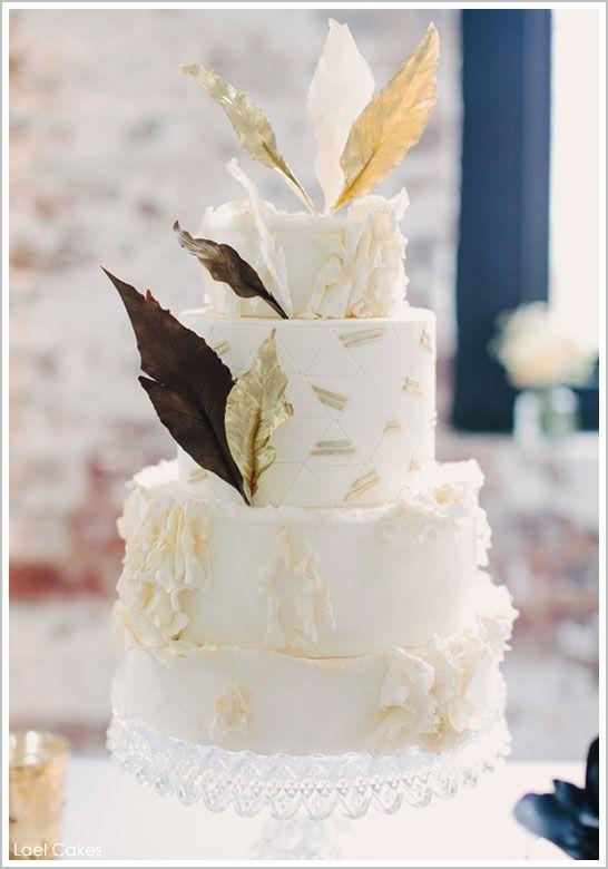 Best 25 Feather Cake Ideas On Pinterest Boho Cake Gold