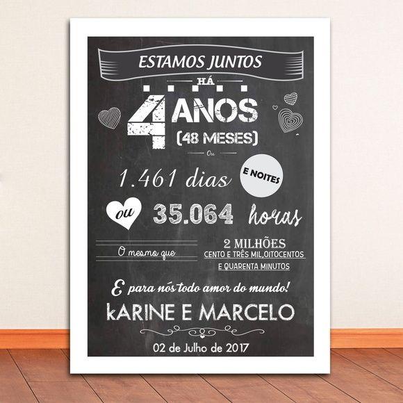 Arte Digital Para Chalkboard Aniversario De Namoro Produto