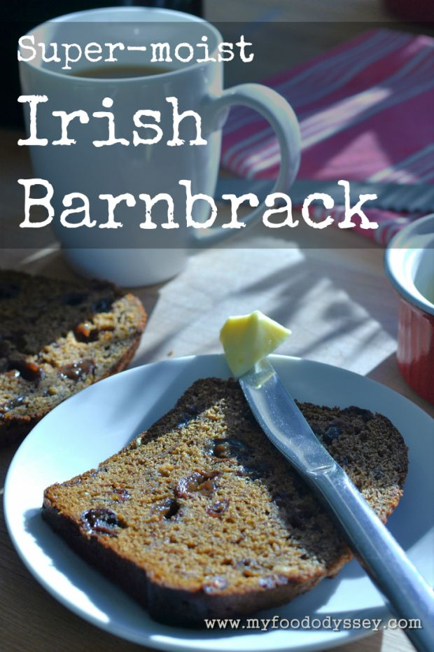 Irish Barnbrack (also called Barmbrack) is a moist fruit cake traditionally prepared for Halloween.  Also perfect for St. Patrick's Day!