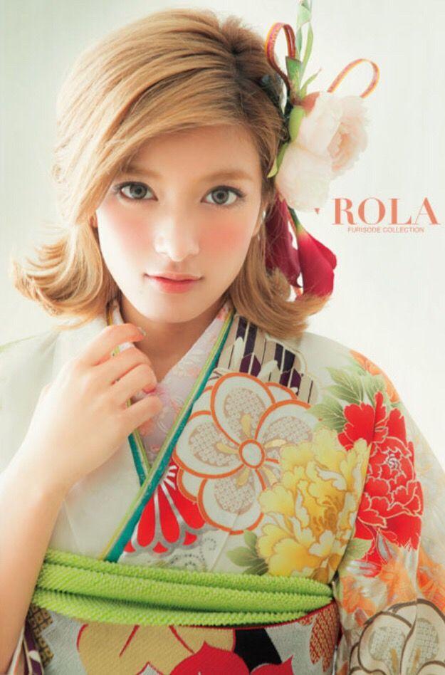 和装の洋髪スタイルは振袖女子に学べ!《2015年》*ローラ*の振袖姿&ヘアスタイルが可愛すぎます♪ | ZQN♡