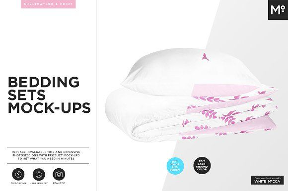 Bedding Sets Mock-ups by Mocca2Go/mesmeriseme on @creativemarket