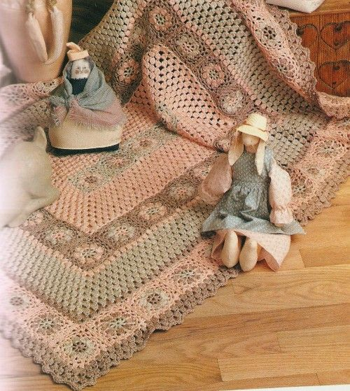 """Crochet blanket from a retro 1980s book; wait a minute... """"retro 1980's""""? The 1980's are now retro??? My kids were born in the 80's, that wasn't all that long ago!!!"""