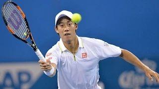 Nishikori vs Johnson   Last Game ATP Brisbane R2