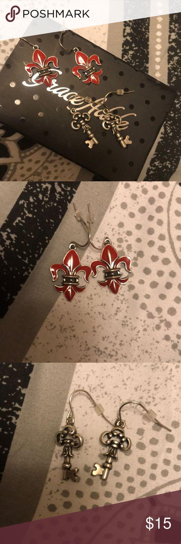 2 sets of grace Adele earrings new with box! Super cute earrings 2 sets! New with box grace adele Jewelry Earrings
