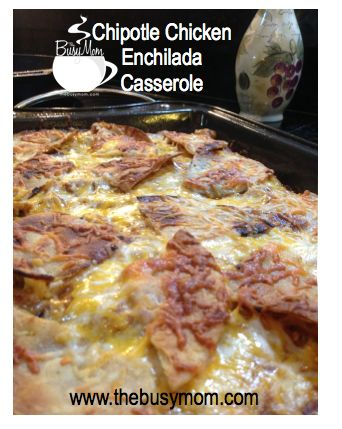 Easy, delicious and a crowd pleaser! Our family loves this recipe—and my hunch is that yours will, too! Chipotle Chicken Enchilada Casserole!  YUM!