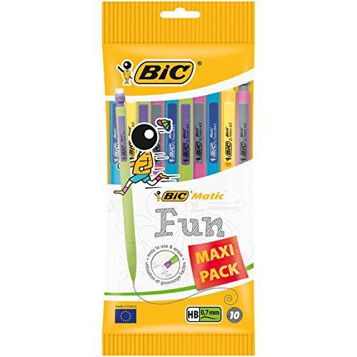 BIC Matic Fun Porte-mines - 0.7mm HB, Pochette de 10 #Matic #Porte #mines #Pochette