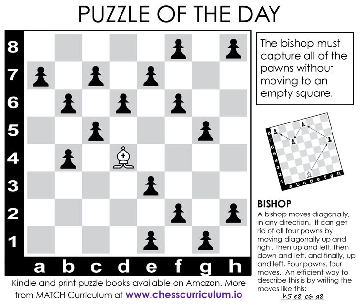 Bishop chess puzzle. More puzzles on the blog and our FB Page #chesspuzzle #brainteaser