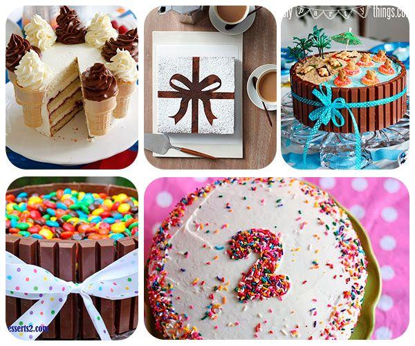tartas de cumpleaños super fáciles  http://www.pequeocio.com/5-tartas-cumpleanos-faciles/