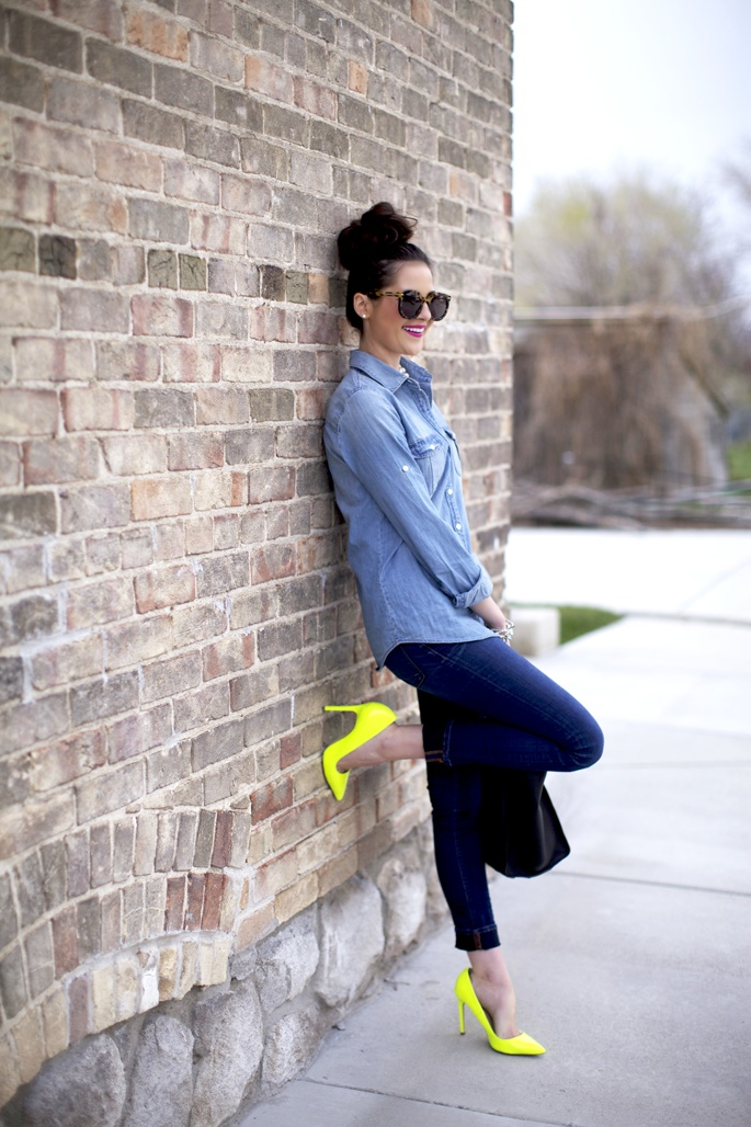 """neon yellow shoes """"got a pair just like those from Aldo's ❤"""