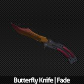 Butterfly Knife | Fade Factory New free CSGO skin download