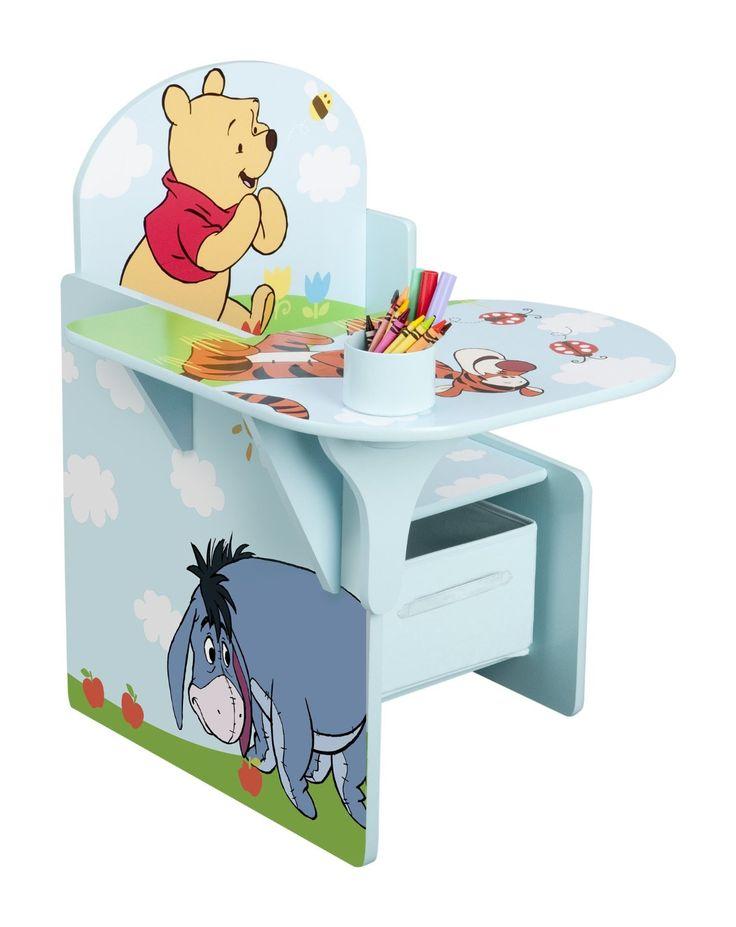 Winnie the Pooh sillón / pupitre juguetero desde Delta niños! Perfecto para el trabajo escolar, la artesanía o-hora de la merienda, que cuenta con gráficos coloridos de  ..