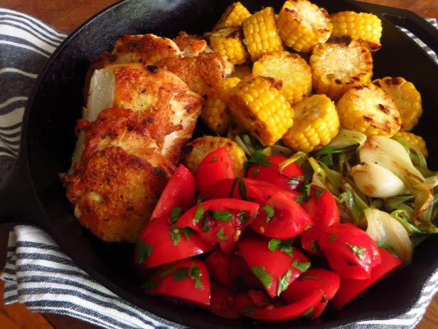 One Pan Dinner Recipe: Crispy Chicken Breast Filets (http://blog.hgtv.com/design/2014/07/10/crispy-chicken-breast-filets/?soc=pinterest)