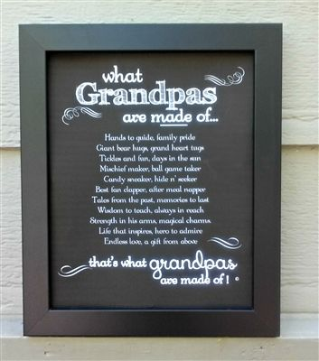 Grandpa, Papa, Granddad- just to name a few. A sentiment for those soft at heart!