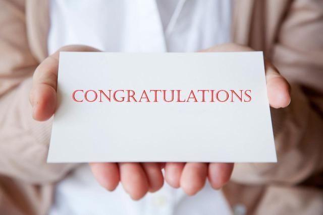Congratulation Note Examples