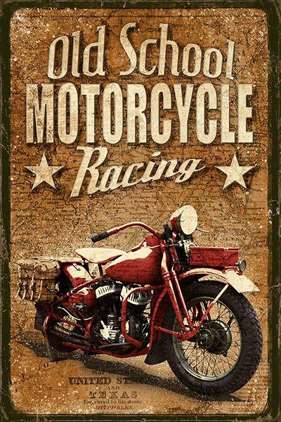 JF_0069_GR1 Cuadro Old School Motorcycle Racing