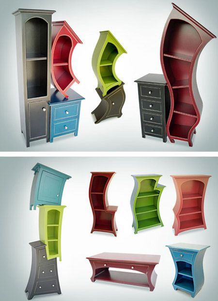 Ooo I like these bookshelves! I'm totally gonna have an Alice in Wonderland themed room one day!