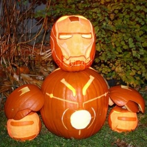 Pumpkin Iron Man...beyond cool!