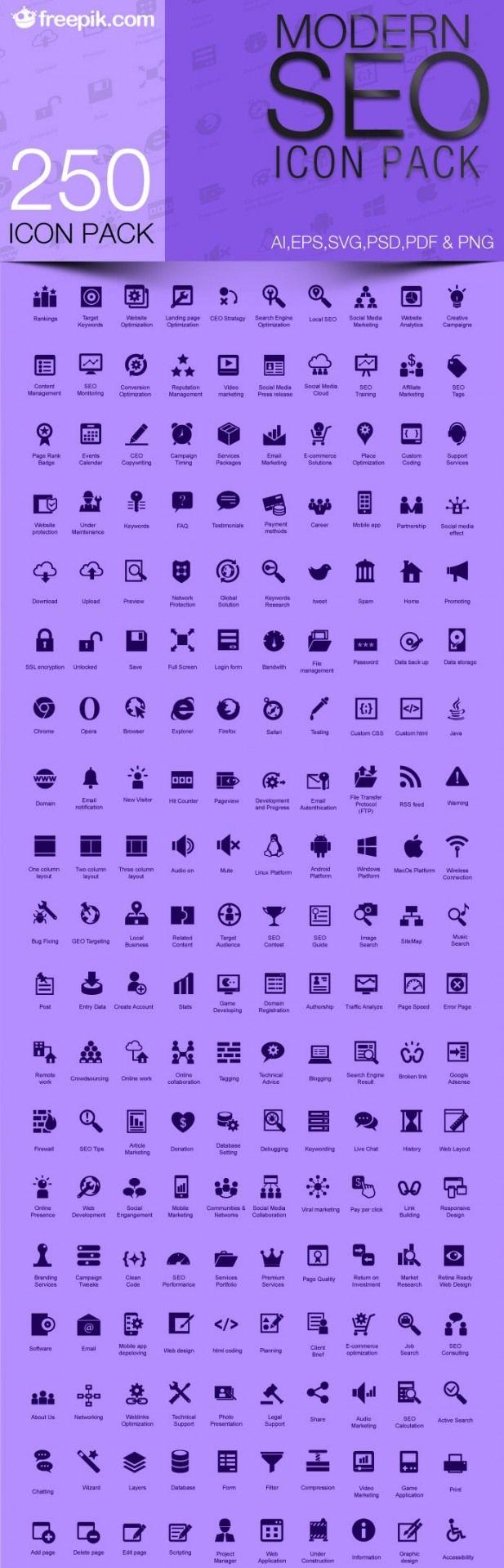 Free Modern SEO Icons