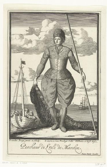 Marken, Fisherman by Pieter van den Berge, 1669-1689 - Het Rijksmuseum Amsterdam