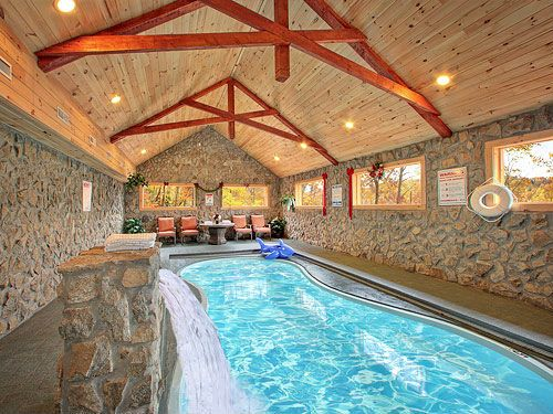 Top 5 mega luxury cabins of gatlinburg tn you won t for Homes for sale in illinois with indoor pool