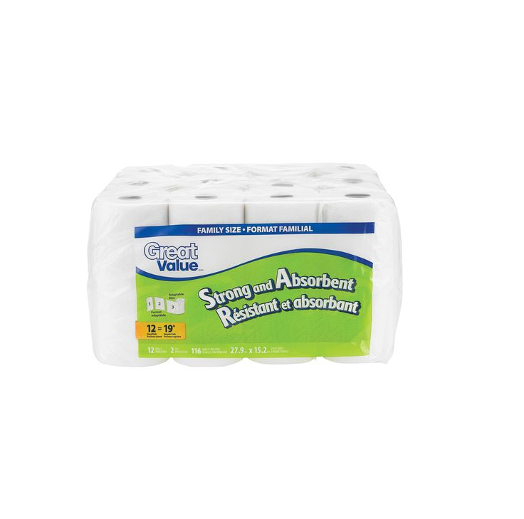 WALMART CANADA / Great Value Paper Towels – Strong and Absorbent (Family Size)