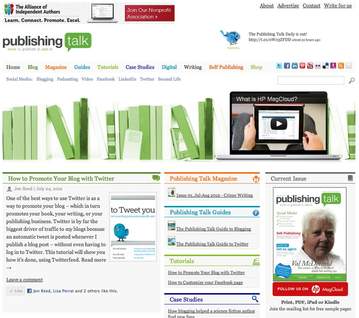 Publishing Talk - the online community and magazine for authors and publishers.