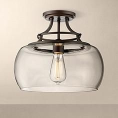 Great for rustic urban, and industrial styles of decor, this ceiling light includes a vintage Edison bulb.