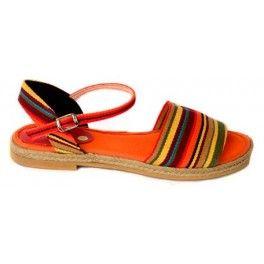 Sandalia lona modelo México Calzado artesano hecho en España