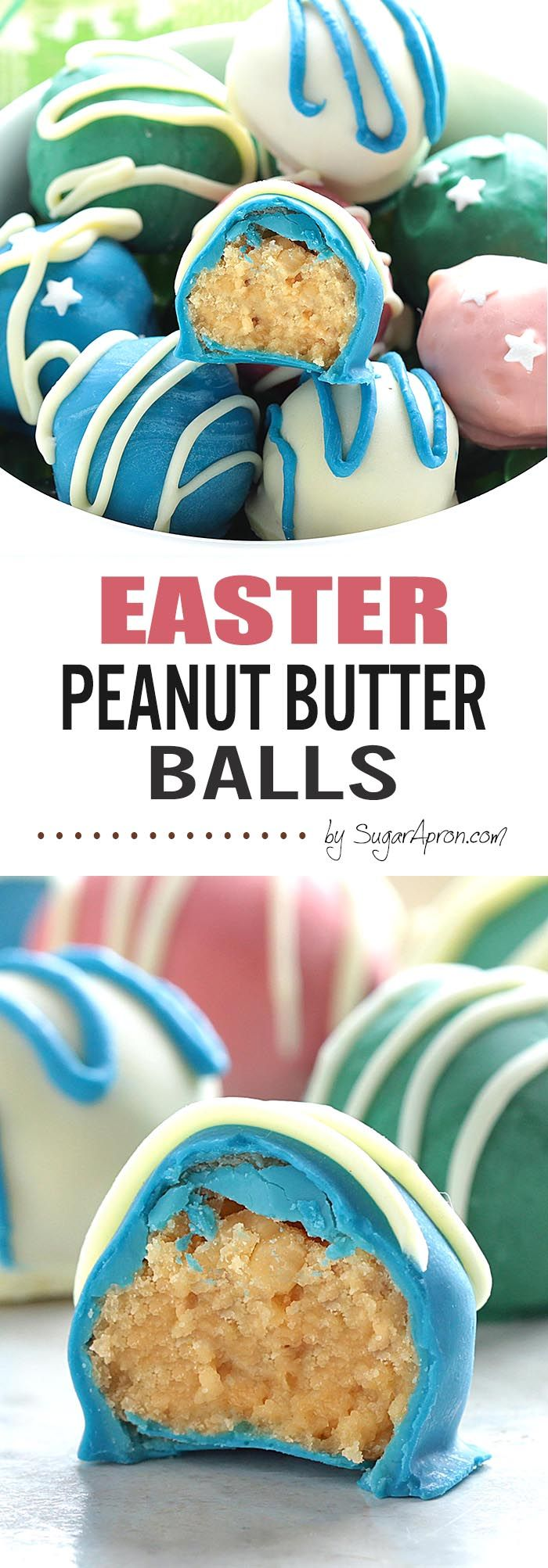 Ridiculously delicious and embarrassingly easy to make Peanut Butter Balls now in a new, special Easter Edition – Oh, and they're super addicting.....like chips....I bet, you can't eat just one.
