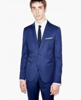 Costume bleu indigo