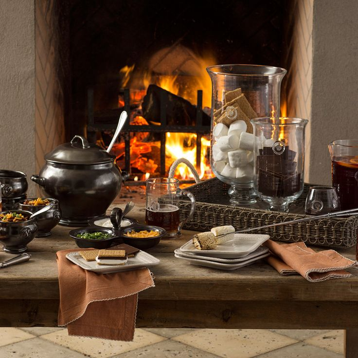 As the summers' temperatures get cooler, cozy up to a crackling fire and linger with good friends, simple food and crisp concoctions.