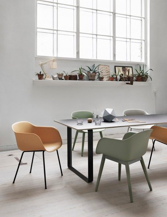 Muuto Fiber Chair tube with 70/70 table