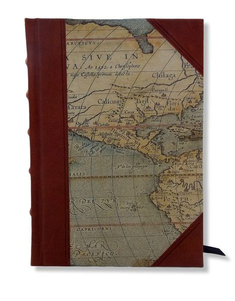 World Maps Half Leather Journal - great to personalise with dates or a title. #travel #boundinbendigo