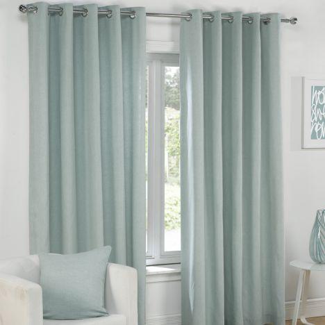 Plain | Duck Egg Blue | Lined | Eyelet | Curtains | Tony's Textiles | Tonys Textiles