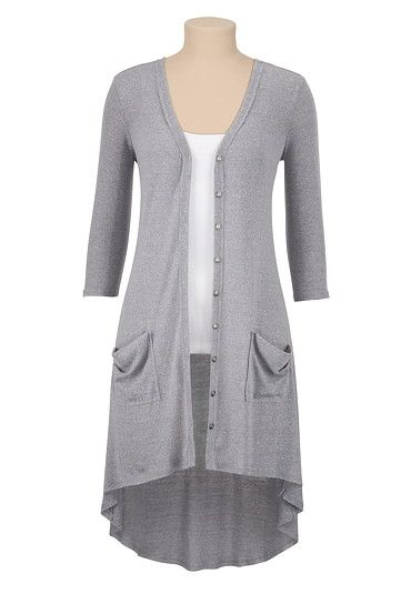 High-Low Long Button Down Cardigan (original price, $34) available at #Maurices