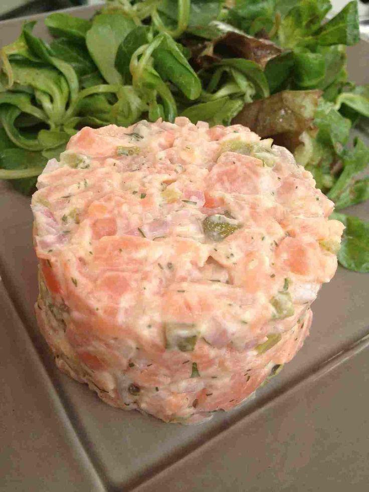 Tartare de saumon Cyril Lignac