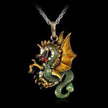 2016 Vintage Bronze Plated Emalia Fly Smok Wstążka Łańcuch Sweter Naszyjnik Kobiety Mężczyźni Biżuteria 4 Kolory(China (Mainland))