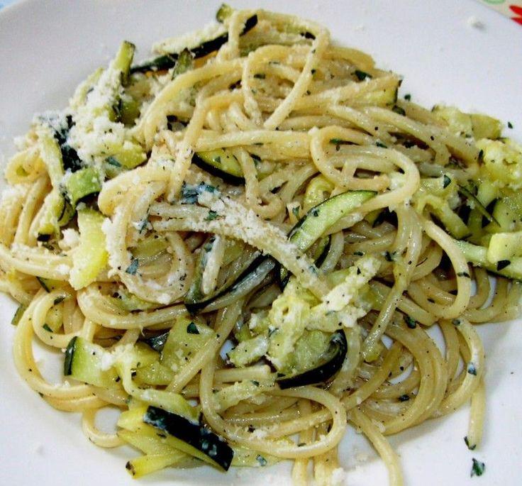 Spaghetti courgette et citron