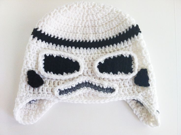 Star Wars Crochet Hats - Storm Trooper. NO PATTERN. Need for inspiration so I can make my own [better] version!