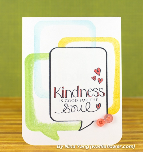 nina-yang-kindness-word-bubble-card by Nina (waffleflower.com), via Flickr